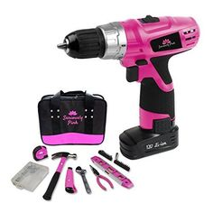 Seriously Pink 12V Lithium Ion Drill/Driver and Essential Hand Tool Kit | Home & Garden, Tools, Power Tools | eBay!