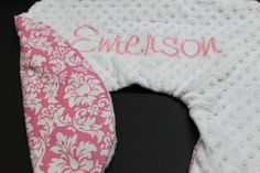 Save 15% on all Boppy Covers - Customized 2 color minky boppy cover with personalization