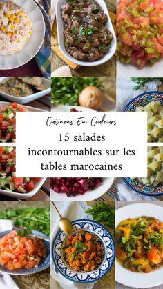 Veggie Recipes, Salad Recipes, Vegetarian Recipes, Healthy Recipes, Morrocan Food, Moroccan Dishes, Oriental Salad, Ramadan Recipes, Eggplant Recipes