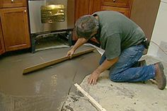 with This Old House general contractor Tom Silva | thisoldhouse.com | from How to Level a Concrete Floor