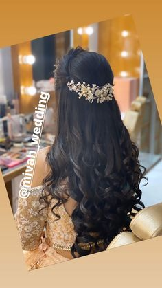Bridal Hairstyle Indian Wedding, Bridal Hair Buns, Bridal Hairdo, Easy Hairstyles For Long Hair, Wedding Hairstyles For Long Hair, Indian Bride Hair, Hairstyle Short, Hair Updo, Curly Hair