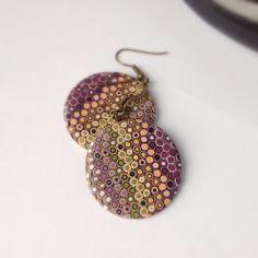 Handmade Statement Earrings by OKclayjewelry Handmade Polymer Clay, Polymer Clay Earrings, Statement Earrings, Drop Earrings, Christmas Gifts For Mom, Earrings Handmade, Crochet Earrings, Best Gifts, Dangles