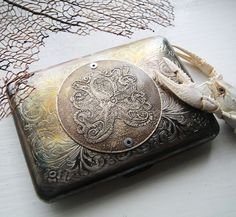 Octopus Brass Etched Wallet / Cigarette Case in Steampunk Victorian  -- Acid Bath Series. $58.00, via Etsy.