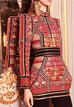 Embellished! #DesignerSpotlight #Balmain www.bibleforfashion.com/blog #bibleforfashion