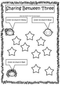 equal sharing worksheets my tk classroom math division worksheets kindergarten math. Black Bedroom Furniture Sets. Home Design Ideas