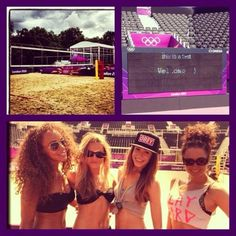 Danielle and three other dancers. Someone said that Liam gave her the obey hat.