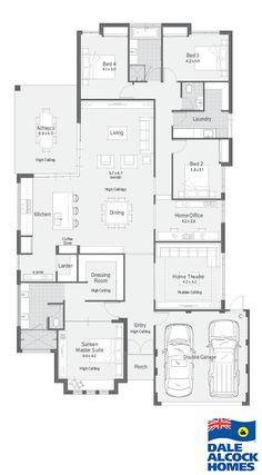 Choose your dream home design now with Dale Alcock. Home Design Floor Plans, Dream Home Design, Plan Design, House Design, Best House Plans, Dream House Plans, House Floor Plans, The Plan, How To Plan