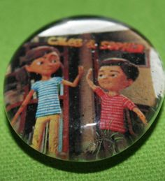 JW.org Sophia & Caleb Magnets- glass marbles. Used redlined glue to apply printed picture. Added magnet to back