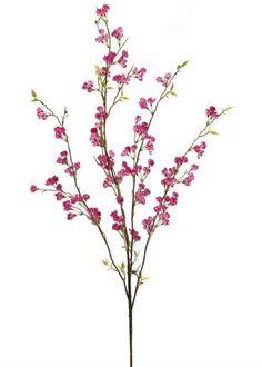 """Silk Cherry Blossom Branch Spray in Dark Pink<br>46"""" Tall"""