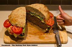 Inside the huge hamburger