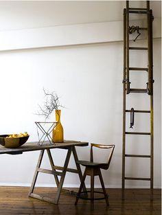 light, ladder, & ochre
