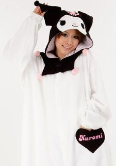 305a3d17f Cause some commotion at the next party with your New Kuromi Kigurumi  costume! Animal Pajamas