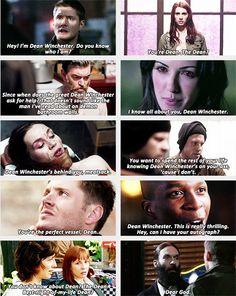 "(gif set) ""You're Dean. The Dean?""     Dean Winchester + Reputation"