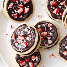 Chocolate-Peppermint Sandwich Cookies Recipe from Taste of Home