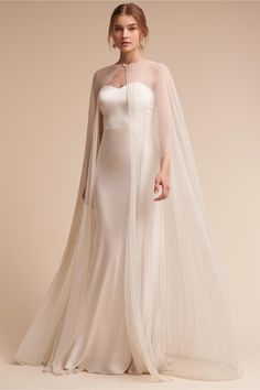 modern maven | Gina Gown & Paragon Cape from BHLDN