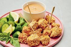 Loounie-cuisine-croquettes de tofu style shake and bake. Seitan, Tempeh, Quebec, Poke Bowl, Shake, Cookies Et Biscuits, Avocado Toast, Vegetarian Recipes, Gluten Free