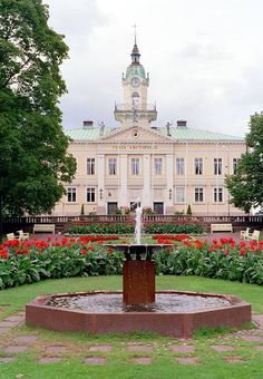 The old Town hall of Pori, Finland. Built in 1839–1841. Architect: Carl Ludvig Engel.