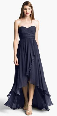 c667f7092b Vestido de formatura azul. High Low Prom DressesFormal ...