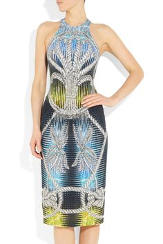 love the print of this Peter Pilotto and Christopher de Vos stretch-jersey dress.