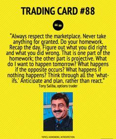 Trading Card #88: Always Respect The Marketplace by Tony Saliba