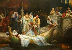 View The Lady of Shalott by George Edward Robertson on artnet. Browse upcoming and past auction lots by George Edward Robertson. Pre Raphaelite Paintings, The Lady Of Shalott, King Arthur Legend, George Edwards, Old Master, Narnia, Magick, Art History, Fantasy Art