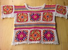 Isabella pattern by Marie Wallin - Patron de Isabella Marie Wallin: Ravelry Gilet Crochet, Crochet Blouse, Crochet Granny, Crochet Stitches, Knit Crochet, Crochet Patterns, Crochet Girls, Crochet Woman, Crochet For Kids