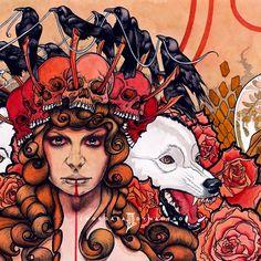 Chris Panatier 2014 Dynahead - Chordata II [Digmetalworld] (John Dyer Baizley style) #albumcover #illustration #fantasy