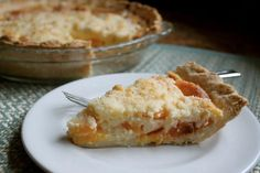 Slice of Custard Peach Pie!