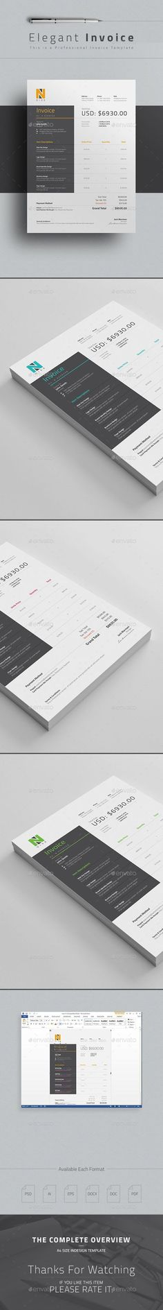 Invoice • Available here → http://graphicriver.net/item/invoice/15274575?s_rank=168&ref=pxcr:
