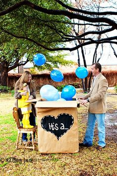 cute gender reveal idea-We are going to have a party to announce our next baby's sex. Maybe to announce we are pregnant.