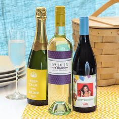 Personalized Birthday Wine Labels by Beau-coup