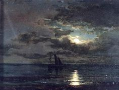 Sea. Moonlight night Petr Sukhodolsky (1873)