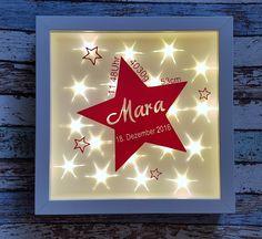 Weiteres - Beleuchteter Bilderrahmen Geschenk Stern/Sterne  - ein Designerstück von PerfektePuschen bei DaWanda