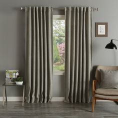 Aurora Home Grey Wool 84-inch Curtain Panel Pair - 16819413 - Overstock Shopping - Great Deals on Aurora Home Curtains