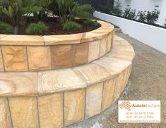 Natural stone landscaping – capping – paving – garden edging.  It's without a doubt that the use of natural stone in Landscaping brings a project to another level. A nice capping, a stone wall or nice stone edging. Get the balance right with soft scaping and the combination is a winner.  #sandstone #landscape #stone #stonework #stonemason #landacapedesign #landscapearchitect #architect #australianstone #sydneydevelopers Sandstone Cladding, Stone Edging, Stone Landscaping, Stone Retaining Wall, Stone Supplier, Garden Edging, Stone Work, Natural Stones, Flooring