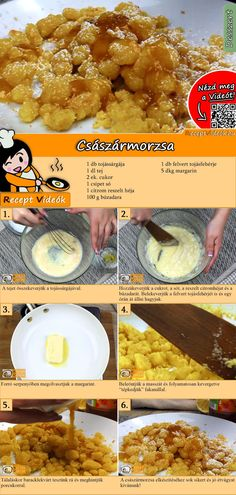 Kaiserschmarrn recipe with video - DESSERT Rezepte mit Videos, mit Rezeptkarten - Hungarian Cuisine, Vegetarian Kids, Vegetable Recipes, Meal Planning, Dessert Recipes, Dessert Dishes, Food And Drink, Yummy Food, Meals
