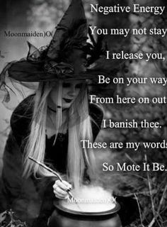 Negative energy banish Wicca pagan cleansing, pagan sayings spells of magic for you spell book and Book of Shadows Magick Spells, Wicca Witchcraft, Hoodoo Spells, Wiccan Spells Love, Easy Spells, Green Witchcraft, Removing Negative Energy, Protection Spells, Protection Prayer