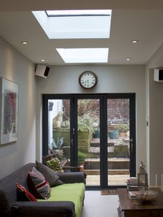 Image result for real slate lean to roof extension with velux windows Lean To Roof, Conservatory Roof, Roof Extension, Kitchen Colors, Slate, Extensions, Windows, Contemporary, Living Room