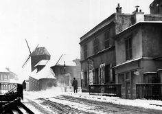 Rue Girardon sous la neige - ?