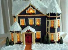 Lighting a gingerbread house