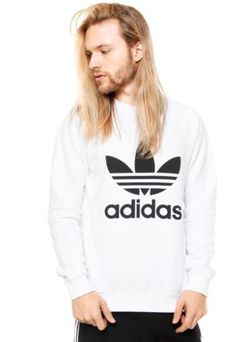 Moletom ADIDAS Originals Trefoil Branca Adidas Originals 838565d1573d9