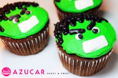 Hulk Cupcakes gonna try for Williams birthday