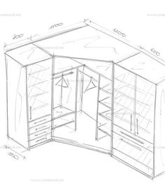 Угловой шкаф с пеналами в спальню · Wardrobe IdeasCorner WardrobeClosets CupboardWardrobesDrawersProjects