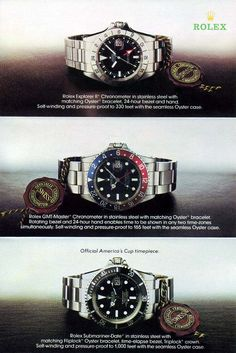 Part The Rolex Submariner Through Time The Evolution Of The Rolex Revolution Cool Watches, Rolex Watches, Watches For Men, Dream Watches, Vintage Rolex, Vintage Watches, Vintage Ads, City Under The Sea, Paul Newman Daytona