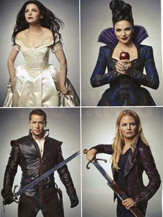 Snow White ♣ Evil Queen ♣ Prince Charming ♣ Emma Swan - Once Upon A Time