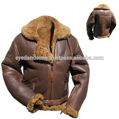 Aviator Style Sheep Leather Jacket for Men