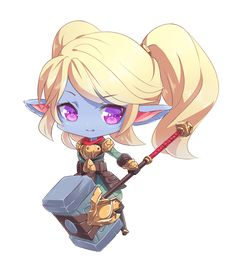 Chibi Poppy - League of Legends by Kairui-chan on DeviantArt Chibi Poppy - League of Legends by Kair League Of Legends Poppy, Champions League Of Legends, League Of Legends Characters, Lol League Of Legends, Anime Chibi, Anime Art, Poppy League, Legend Images, Game Character Design