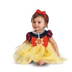 Introduce your little one to Disney for her first Halloween or just as part of dress up time with this all-new Snow White infant costume that's the fairest of them all.