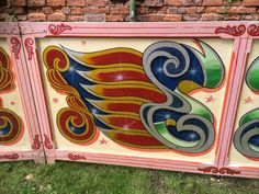 Original Vintage Fairground Carnival Fete Antique Wooden Stall Boards Panels | eBay