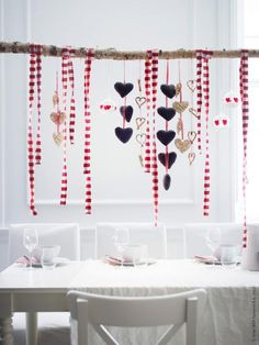 A Branch, Ribbons and Hearts | via inspirations from IKEA